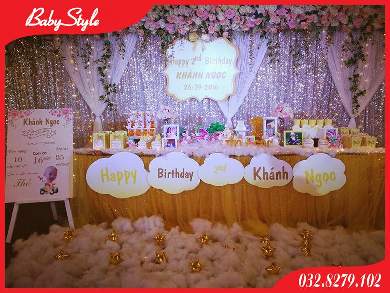 Trang trí sinh nhật Khánh Ngọc