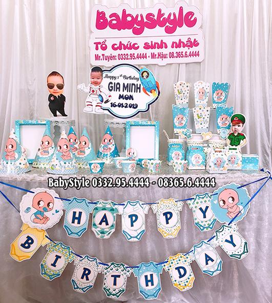 Sét phụ kiện sinh nhật chủ đề Baby Boy