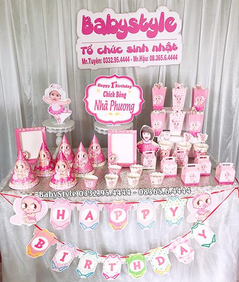 Sét phụ kiện sinh nhật cho bé chủ đề Baby Girl