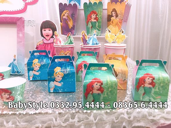 Hình ảnh bộ phụ kiện sinh nhật công chúa combo 6 món 1