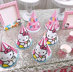 Hình ảnh sét phụ kiện sinh nhật Hello Kitty combo 6 món 1