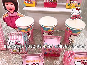 Hình ảnh sét phụ kiện sinh nhật Hello Kitty combo 6 món 2