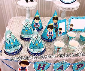 Hình ảnh sét phụ kiện sinh nhật chủ đề Hoàng Tử combo 6 món 12