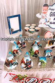 Hình ảnh sét phụ kiện sinh nhật chủ đề siêu anh hùng combo 6 món 1