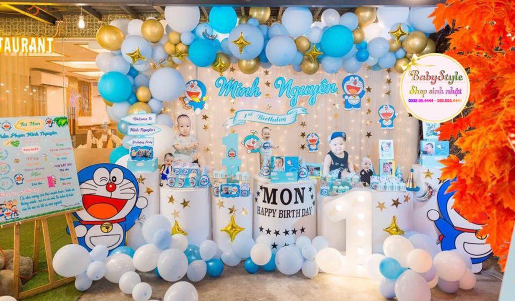Mẫu trang trí sinh nhật chủ đề Doraemon
