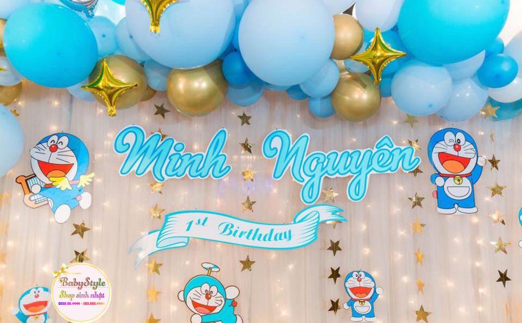 Phông sinh nhật chủ đề Doraemon