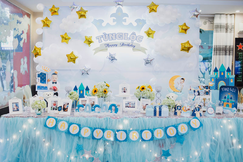 Bộ phụ kiện trang trí sinh nhật cho bé tại nhà giá rẻ