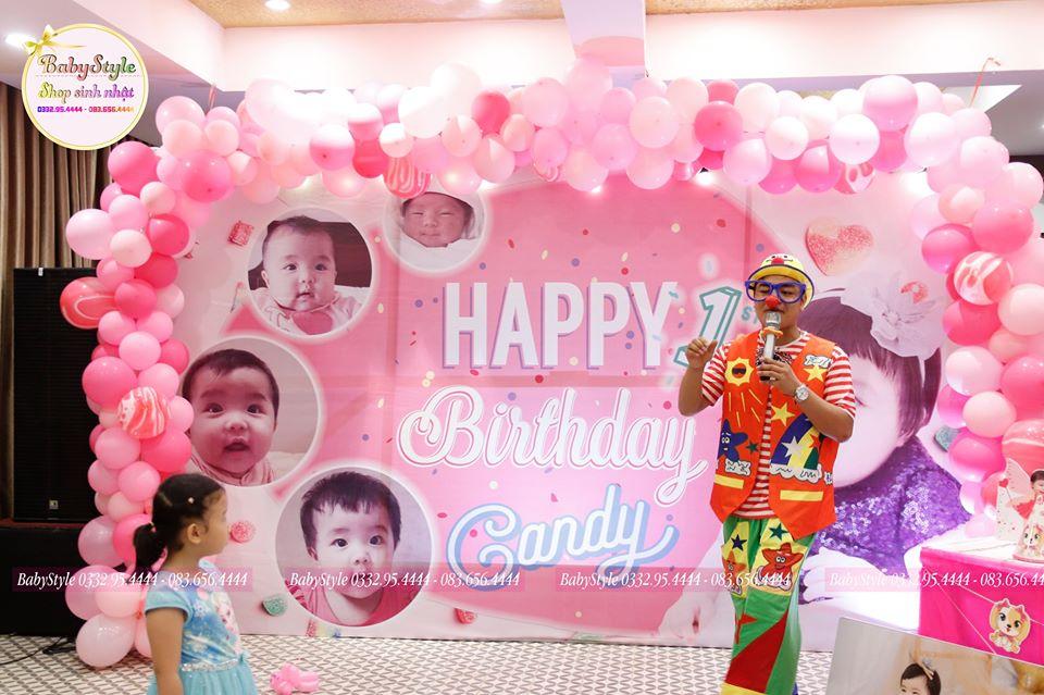 mẫu trang trí sinh nhật theo tone mà hồng
