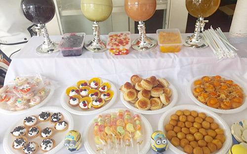 Các món ăn tráng miệng của bữa tiệc