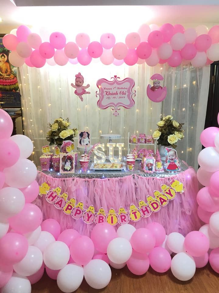 sinh nhật tại nhà cho bé gái