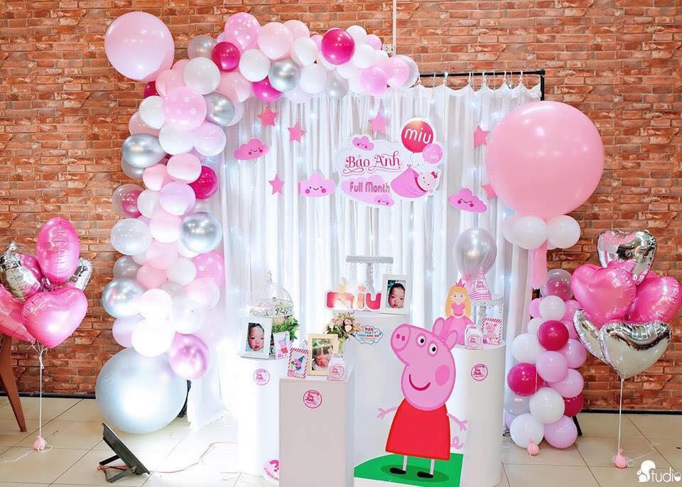 trang trí không gian sinh nhật cho bé