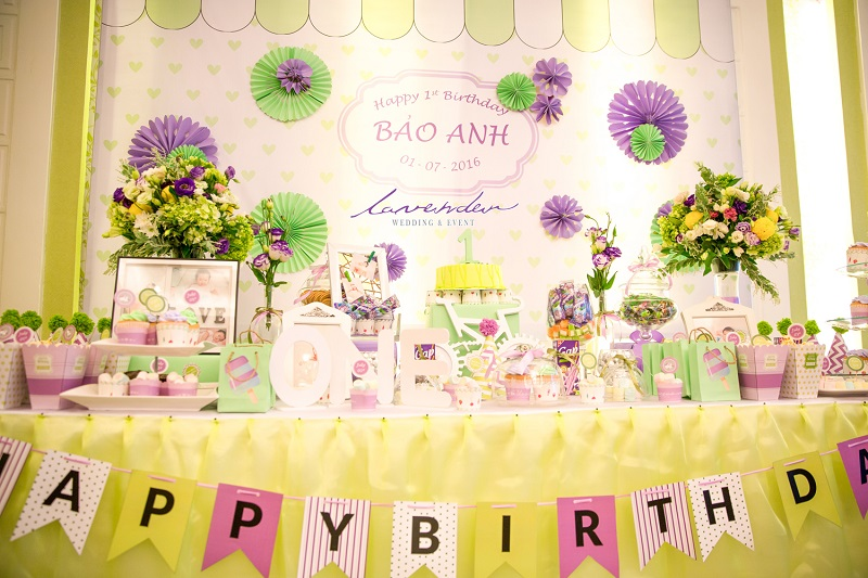 trang trí không gian sinh nhật tại nhà