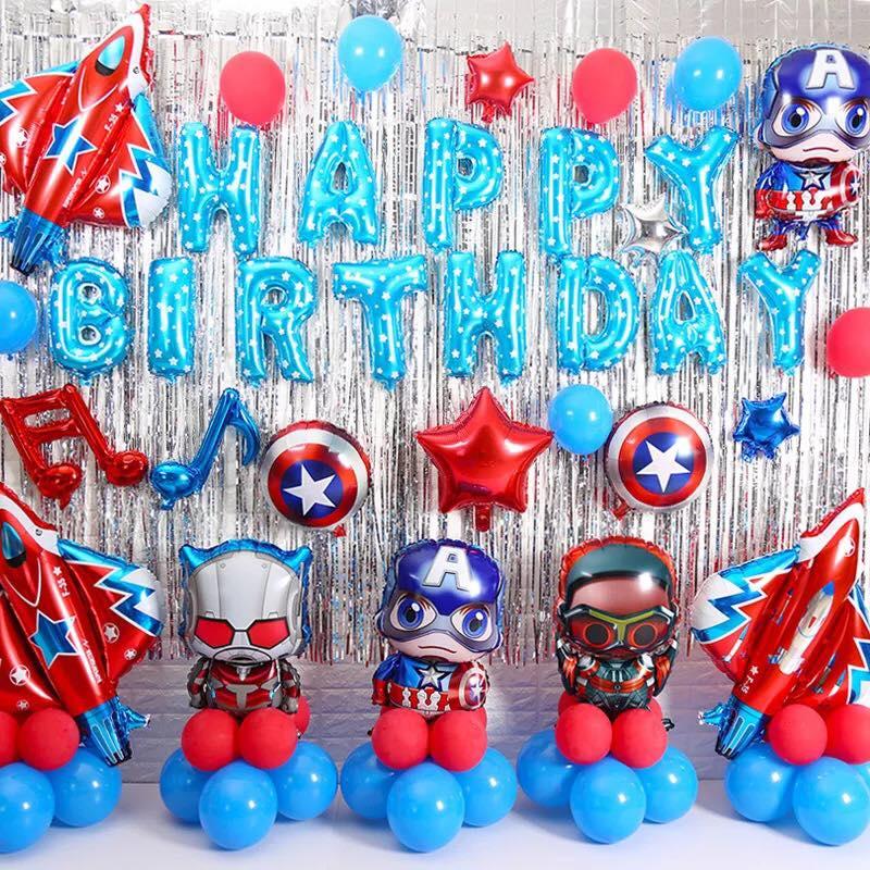 trang trí sinh nhật chủ đề siêu anh hùng