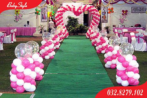 Cổng bóng bay đám cưới