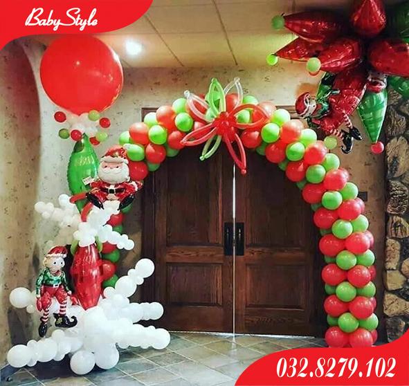 Cổng bóng bay trang trí Noel